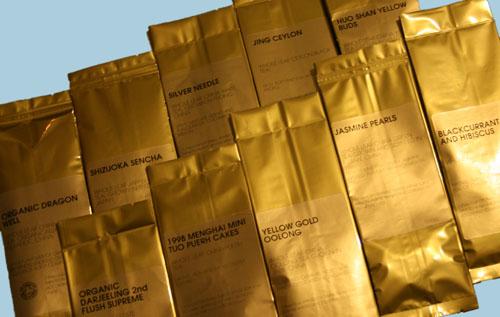 The ten teas in the Jing's sampler pack.