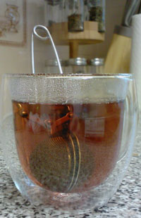 The tea brews