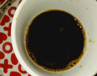 Very much like coffee - thick and strong