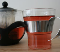 It's even a nice shade of red when brewed!